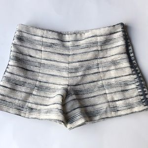 "Tory Burch ""Nicole tweed shorts"" cream stripe 4"